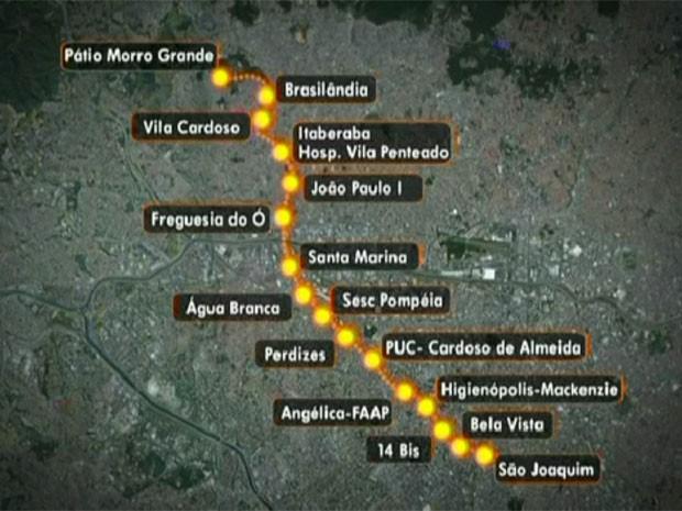 Obra da Linha 6-Laranja do Metrô foi suspensa (Foto: TV Globo/Reprodução)