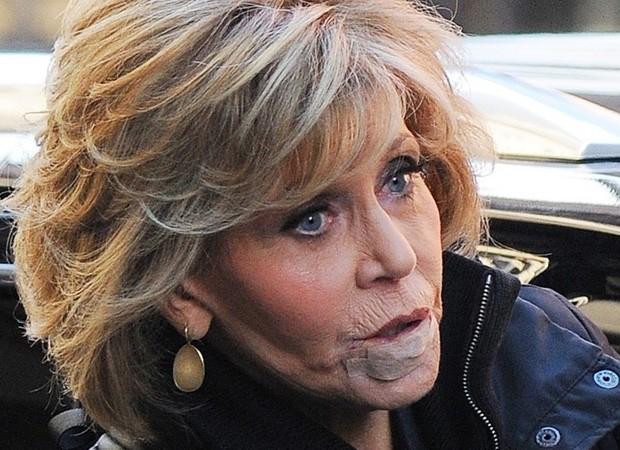 Jane Fonda operada para remover tumor no lábio