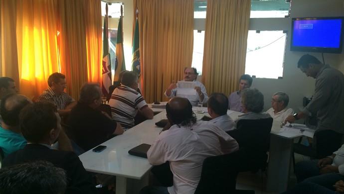 Reunião Conselho Técnico FNF Campeonato Potiguar 2016 (Foto: Jocaff Souza/GloboEsporte.com)