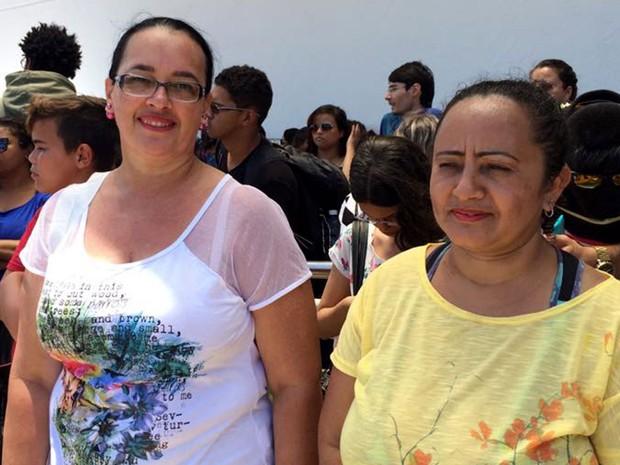 Oneide Galvão e Maria Gilvanda dos Santos tentam vaga no curso de gastronomia em Natal (Foto: Renato Vasconcelos/G1)