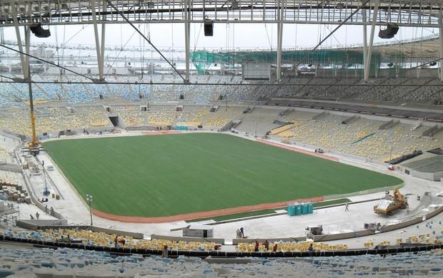 Obras maracanã telão (Foto: Globoesporte.com)