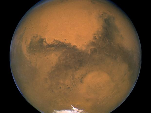 Planeta Marte em foto da Nasa (Foto: Reuters/Nasa)