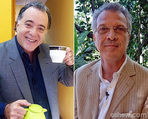 Tony Ramos e Pedro Bial: apaixonados por pão com ovo (Foto: Mais Você/TV Globo)