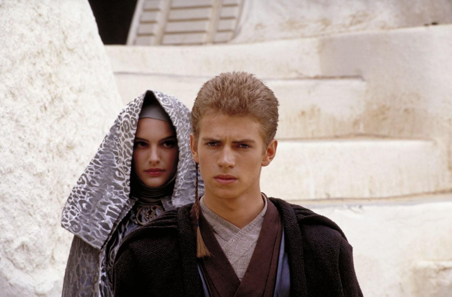 Natalie Portman e Hayden Christensen na saga 'Star Wars' (Foto: Divulgação)