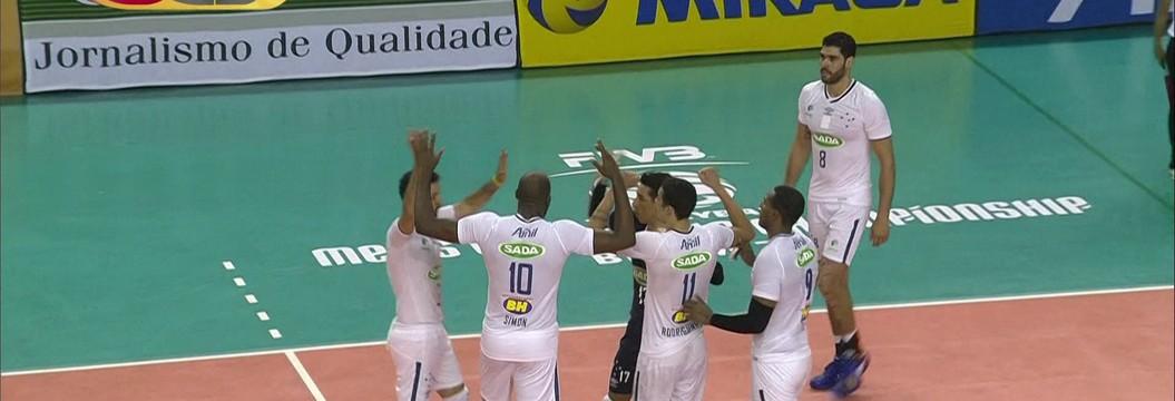 Melhores momentos de Cruzeiro 3 x 1 Bolívar pelo mundial de clubes de vôlei masculino