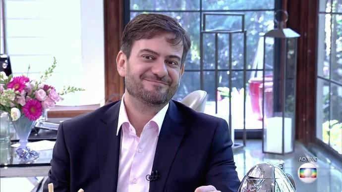 Bruno Astuto conversa com Ana Maria sobre redes sociais (Foto: TV Globo)