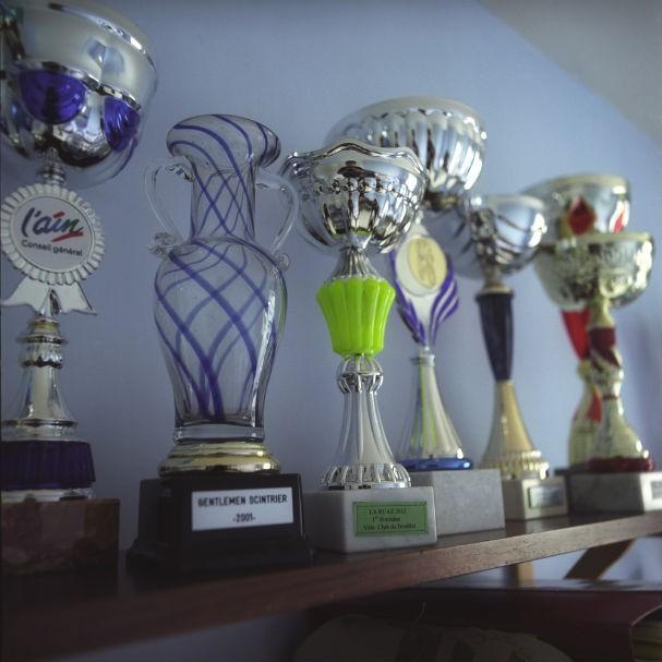 Troféus que Claudette ganhou no ciclismo (Foto: Malika Gaudin Delrieu )