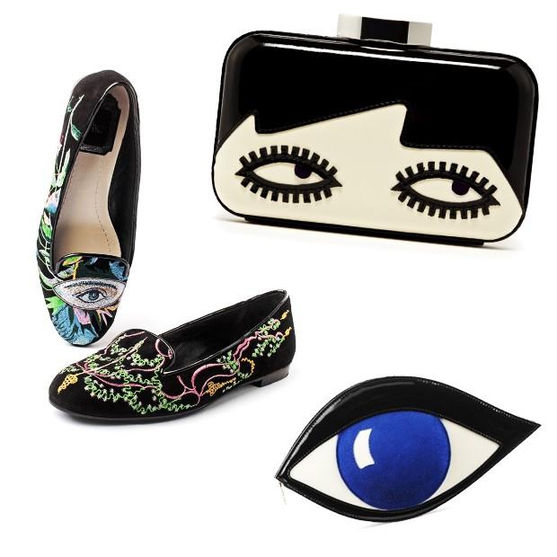 Sapato da Christian Dior e bolsas Lulu Guinness (Foto: Divulgação)