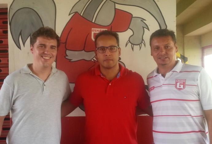 Vinicius Morais, Ricardo Leão e Renato Montak - Guarani-MG (Foto: Laiana Modesto/GE)