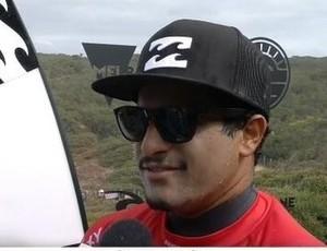 Italo Ferreira em entrevista após a vitória na terceira fase em Bells Beacxh, na Austrália (Foto: Reprodução/WSL)