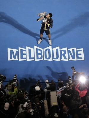tênis novak Djokovic australian open (Foto: Agência AP)