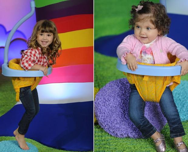 Lara, de 3 anos, e Luiza de apenas 1 anos de idade: filhas do Daniel (Foto: Divulgação / Blad Meneghel)