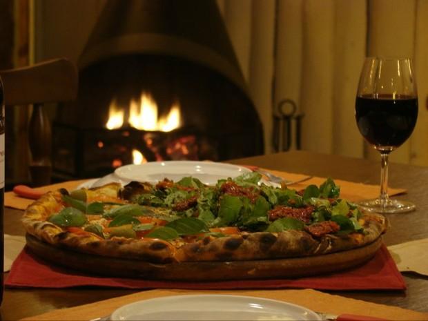 Pizzaria faz campanha para motivar doação (Foto: Pizzaria Allegro/Divulgação)