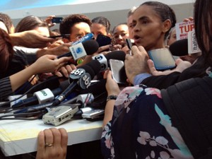 Marina Silva concede entrevista a jornalistas em Brasília (Foto: Filipe Matoso/G1)