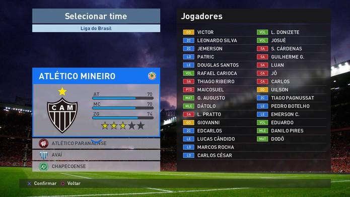 Escolha seu time para disputar o torneio (Foto: Reprodução / TechTudo)