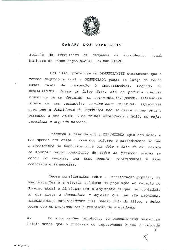 5 - Leia íntegra da decisão de Cunha que abriu processo de impeachment (Foto: Reprodução)