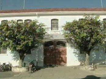 Casa de Custódia de Taubaté, onde Chico Picadinho está preso. (Foto: Reprodução/TV Vanguarda)
