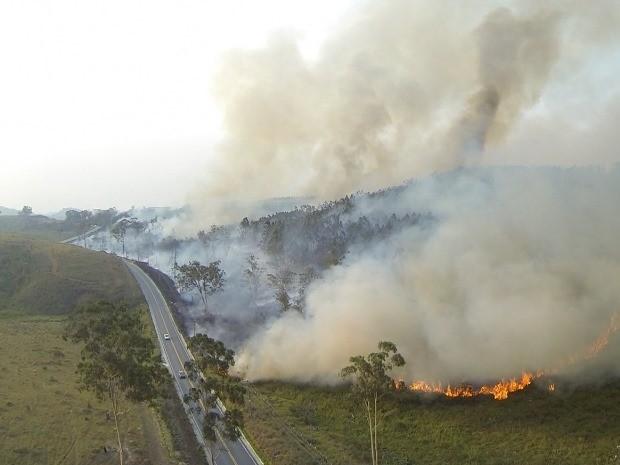 Bombeiros registram mais de 20 focos de incêndio durante fim de semana (Foto: Reprodução/TV Vanguarda)