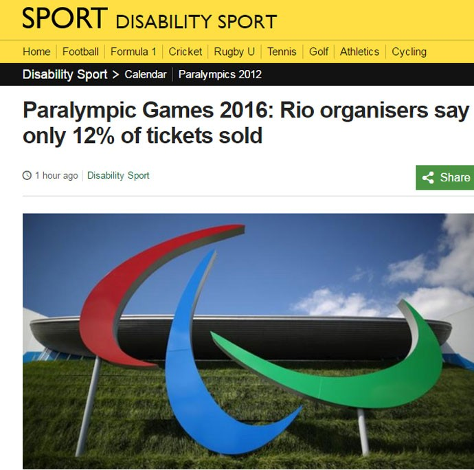 Crise Paralimpíadas