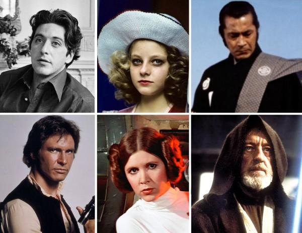 Al Pacino, Jodie Foster e Toshiro Mifune foram os primeiros nomes considerados para Han Solo, Princesa Leia e Obi-Wan Kenobi (Foto: Getty Images/Reprodução)