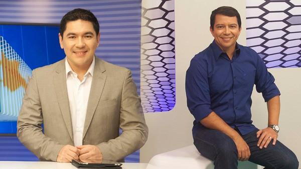 Apresentadores Bruno Sakaue e Kako Marques (Foto: Felipe Gesteira/TV Cabo Branco)