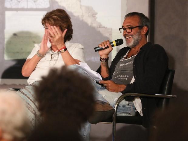 A autora afirma que sua parceria com o diretor Rogério Gomes é eterna  (Foto: Isabella Pinheiro/TV Globo)