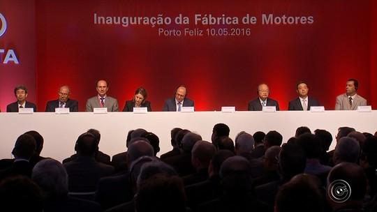 Toyota inaugura fábrica de motores em Porto Feliz