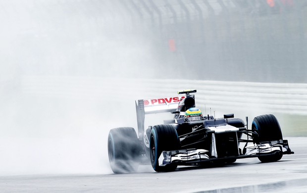 Bruno Senna no treino classificatório do GP da Alemanha (Foto: Williams F1 / MF2)