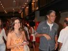 William Bonner e Fátima Bernardes conferem espetáculo no Rio