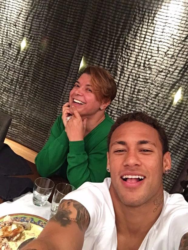Neymar e David Brazil (Foto: Instagram / Reprodução)
