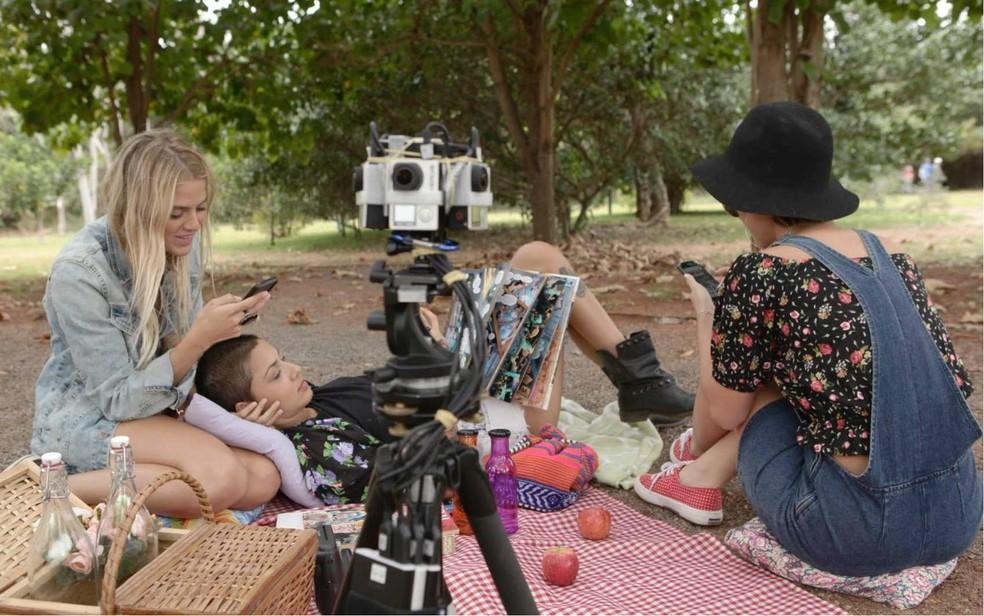 Bastidores do filme em 360 graus
