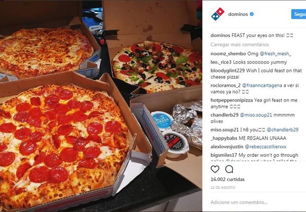 Instagram Domino's pizza (Foto: Reprodução/Instagram)