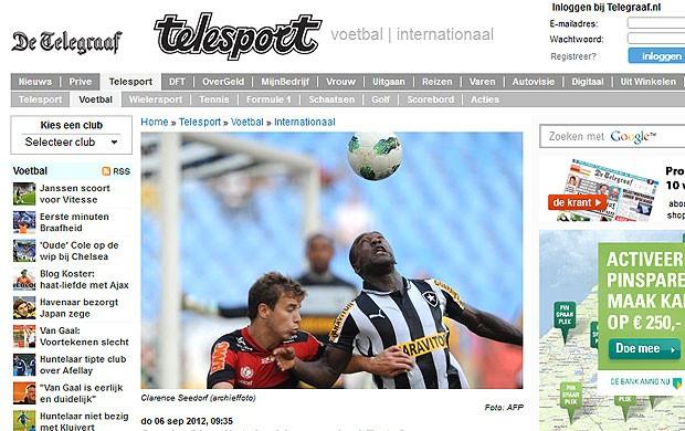 Seedorf partida jornais internacionais Botafogo (Foto: Reprodução / The Telegraph)