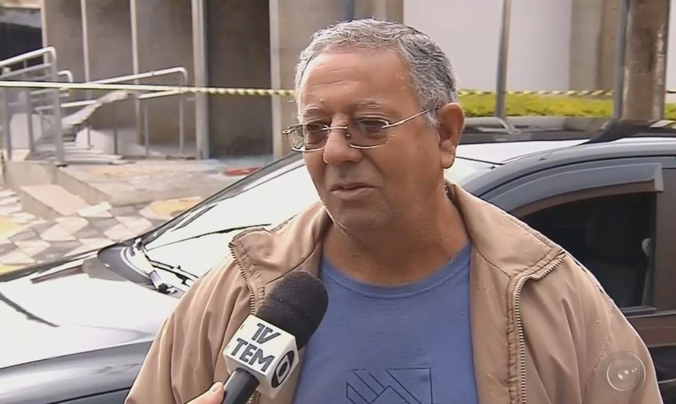 Gilberto acorda às 4 horas e viu a movimentação após o crime  (Foto: Reprodução / TV TEM )