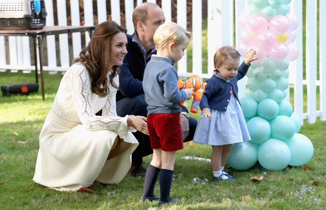 William, Kate, Charlotte e George (Foto: Getty Images)