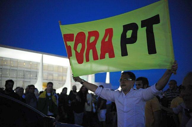 Protesto em 16/03/2016 (Foto: Andressa Anholete / AFP )