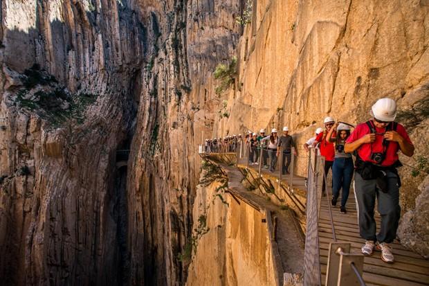 Caminito del Rey, na Espanha (Foto: Getty Images)