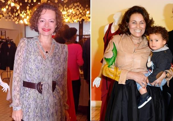 As cariocas Andrea Marques e Patrícia Viera que participam do evento com suas marcas homônimas (Foto: Marina Petti)