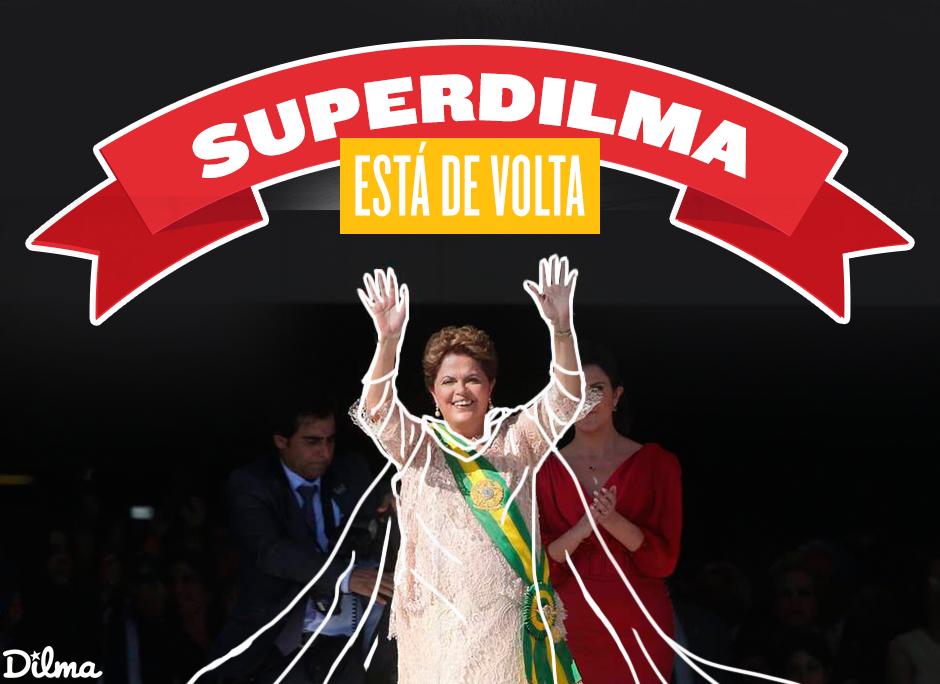 """""""Super Dilma"""" que combate efeitos da crise mundial volta ao Facebook"""