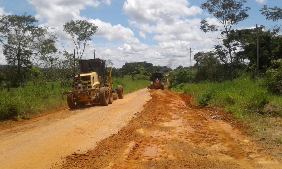 Vias da Zona Rural também foram reparadas (Foto: Semosp/Divulgação)