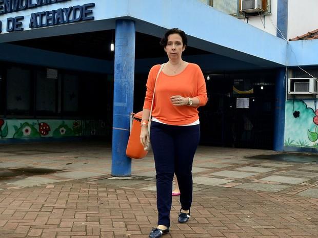 A candidata Carmen Migueles, do Partido Novo, votou neste domingo (2) no Rio (Foto: Roberto Teixeira/Divulgação)