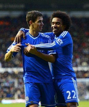 Willian e Oscar Chelsea (Foto: Getty Images)