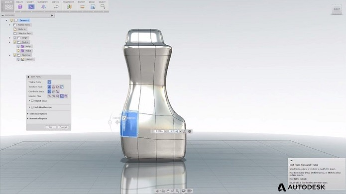 Fusion 360, programa para criar projetos em 3D CAD/CAM desenvolvido pela Autodesk (Foto: Divulgação)