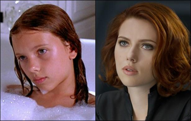 Em 1996, quando co-estrelou 'Meninas de Ninguém', Scarlett Johansson tinha 12 anos. Hoje, beirando os 30, brilha nas telonas como a Viúva Negra da Marvel. (Foto: Reprodução)