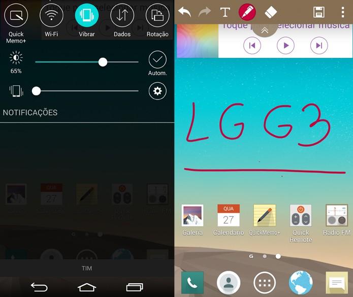 QuickMemo+ permite que você desenhe na tela do LG G3 (Foto: Reprodução/Lucas Mendes)