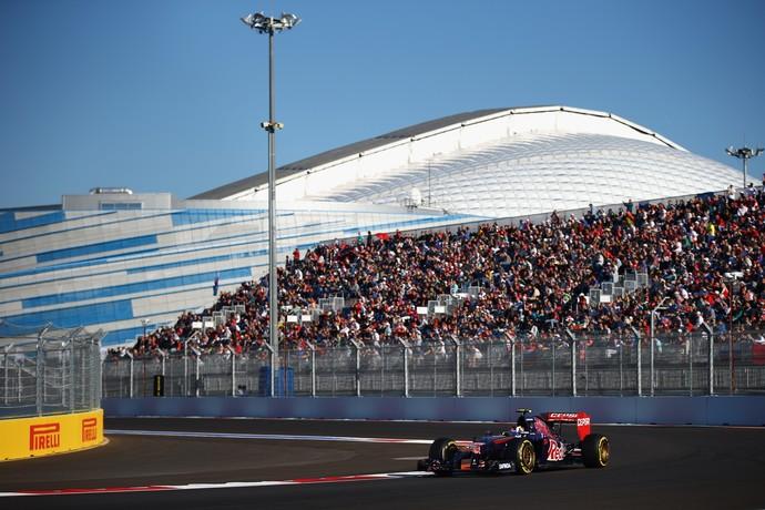 Único russo titular da Fórmula 1, Daniil Kvyat brilhou no treino para GP da Rússia (Foto: Getty Images)