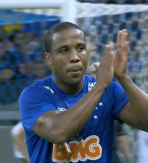 Borges, atacante, Cruzeiro, ABC, Copa do Brasil (Foto: Reprodução/TV Globo)