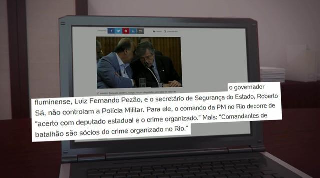 Ministro da Justiça critica governador e secretário de segurança do RJ em entrevista