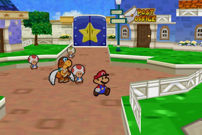 Paper Mario tem visual único e criativo (Foto: Reprodução) (Foto: Paper Mario tem visual único e criativo (Foto: Reprodução))