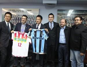 Grêmio parceria Japão (Foto: Cristiano Oliveski/Divulgação Grêmio FBPA)